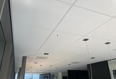 Rockfon plafondpanelen, type Blanka, afm. 900 x 900 mm