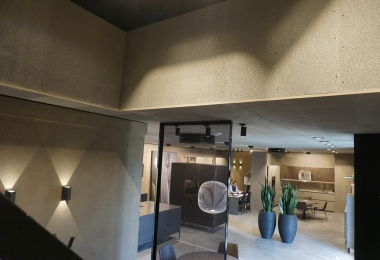 OWA plafondpanelen, type Concrete, afm. 1200 x 2400 mm