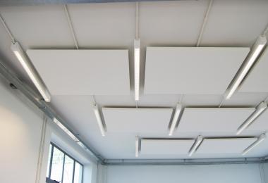 Ecophon Sol, afm. 1200 x 1200 mm direct tegen bouwkundig plafond