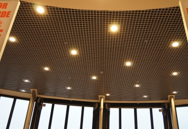 Hunter Douglas raster plafond, kleur Ral 9006