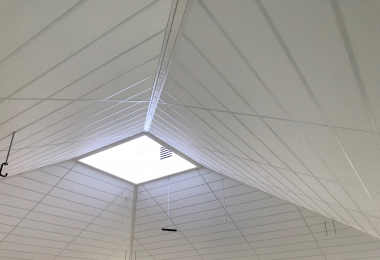 Eurocoustic plafondpanelen, type Tonga, afm. 300 x 1800 mm